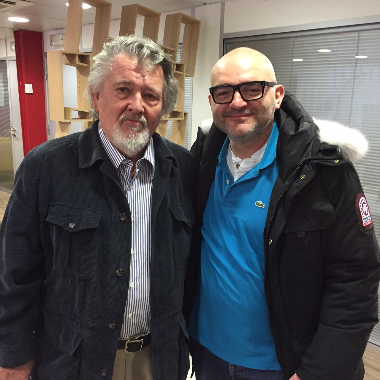 Walter Hill et Matz au Salon du Livre de Paris le 18 mars 2016
