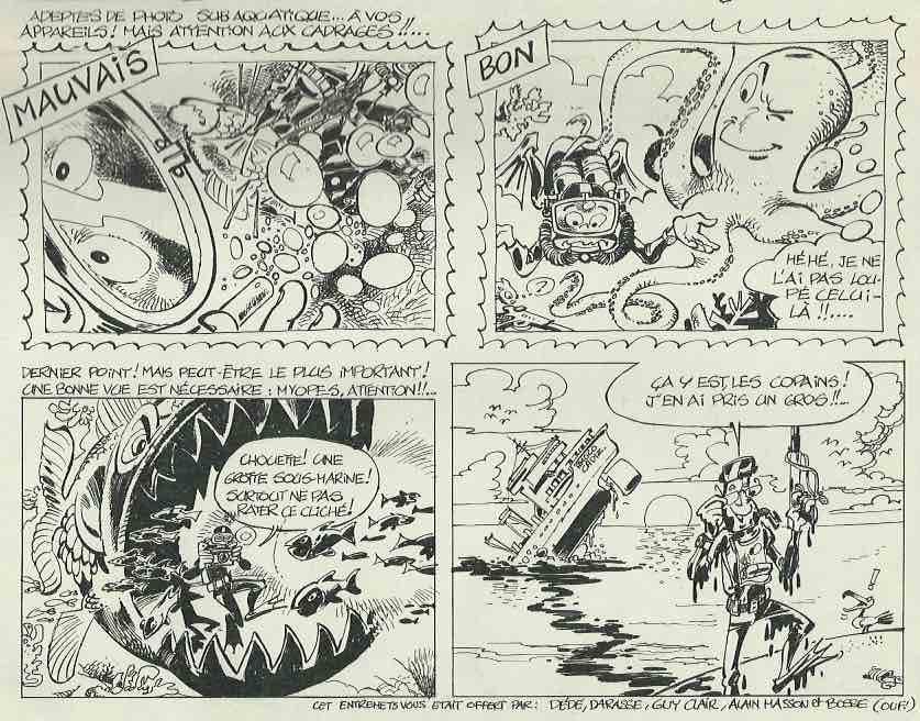 Exemple de dessins pour des animations publiées dans Spirou.
