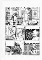 Une planche du « Corentin » de Christophe Simon en noir et blanc.