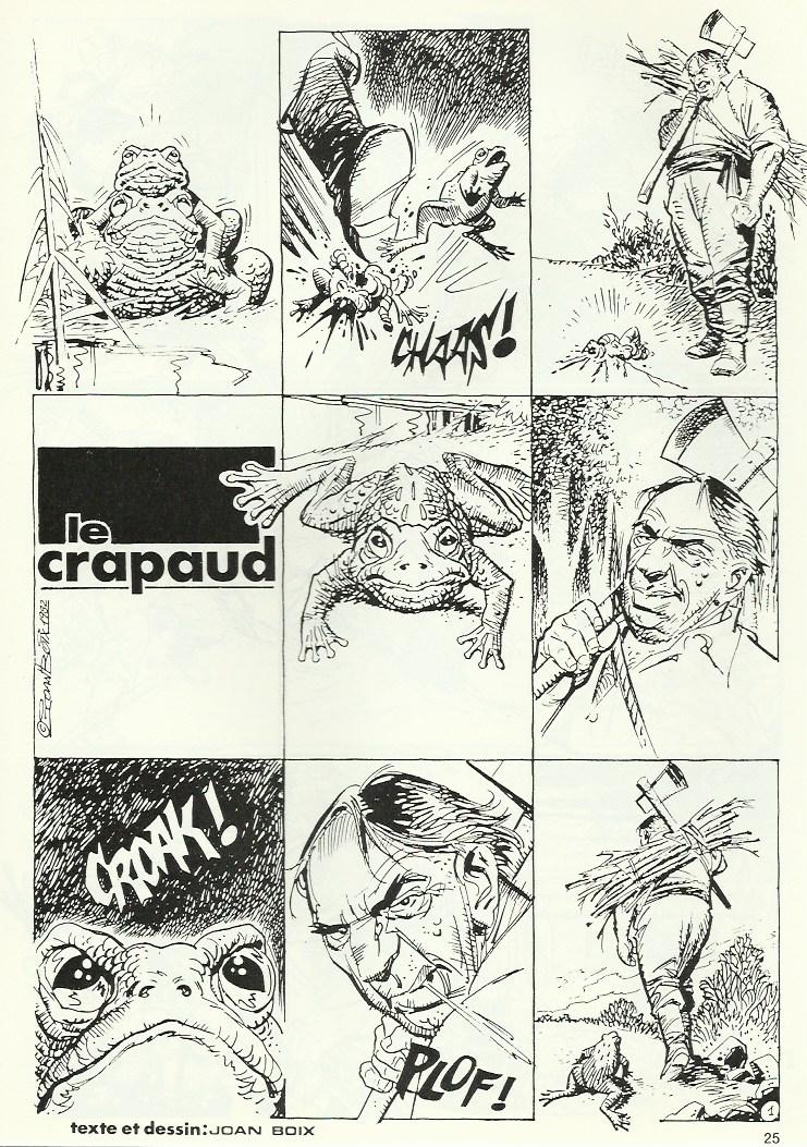 « Le Crapaud » au n° 8 de Thriller, en 1983.
