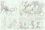 Exemple du travail de crayonné par Bosse sur une planche de « Donjons et Dragons ».