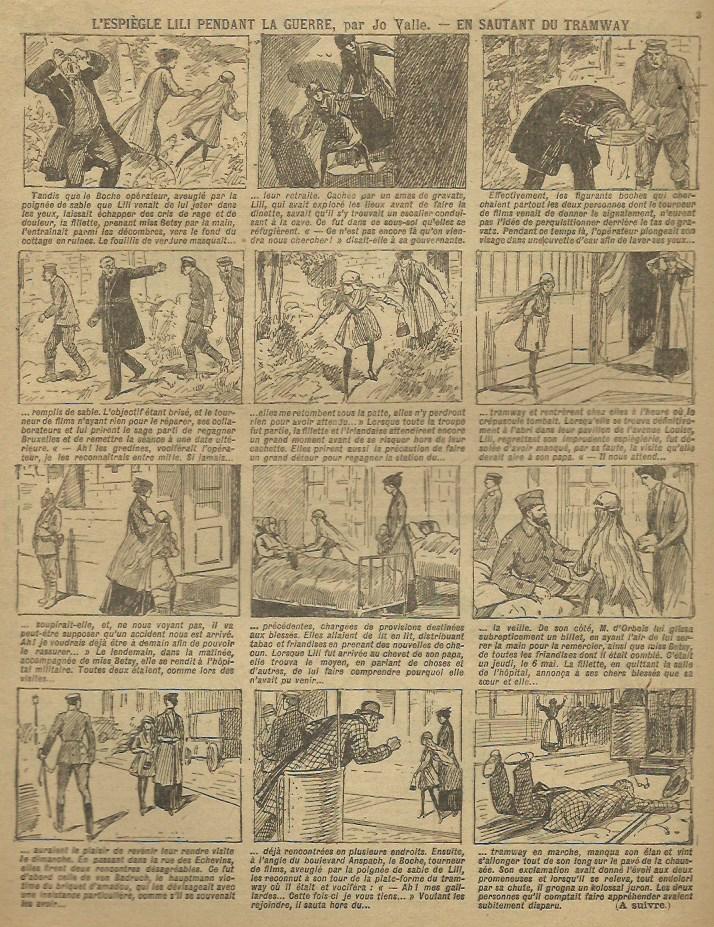 « L'Espiègle Lili » par André Galland, dans Fillette (en mars 1917).