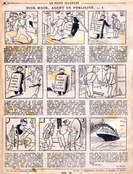 « Nick Nock, agent de publicité » de Jo Valle dans le Petit Illustré (1931).