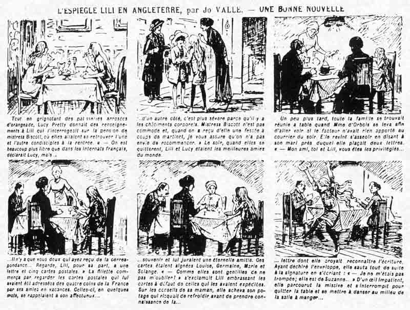 « L'Espiègle Lili » dans Fillette, en mars 1914.