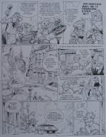 Une page du « Spirou » de Frank Pé et Zidrou sur le site http://www.frankpe.com.