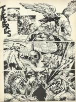 Première page de « Ténèbres » (scénario Jean-Claude Smit-le-Bénédicte), dans le n° 12 de Curiosity magazine, en février 1975.
