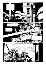 Voltigeurs contre étudiants : l'image choc de la répression (planche 71 par J. Puchol - Casterman 2016)