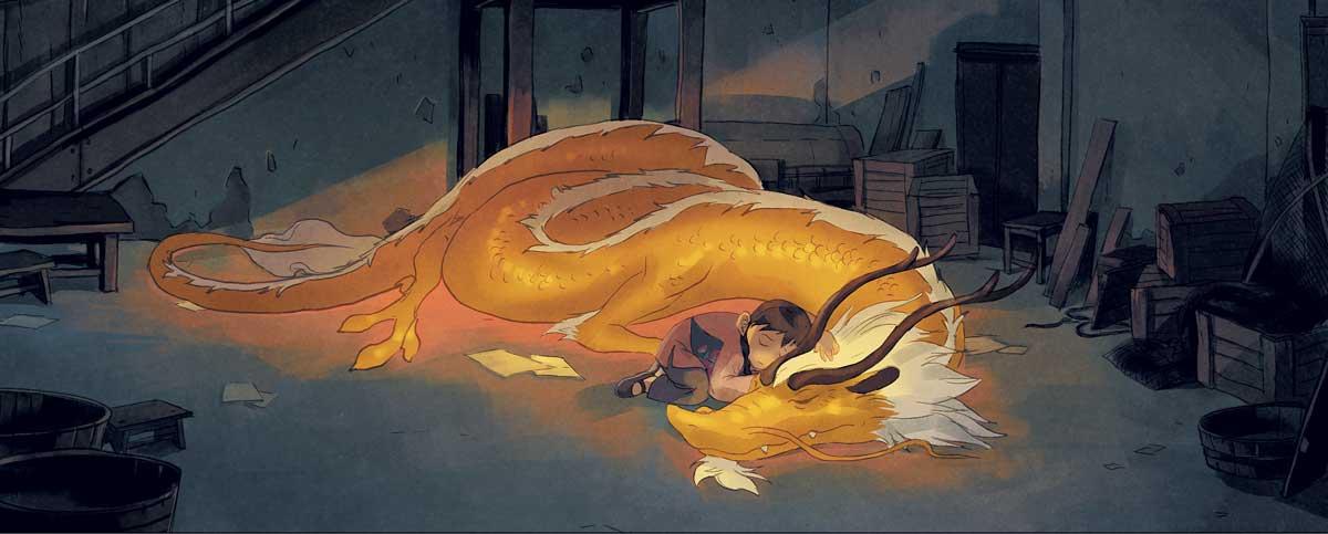 Yin et le dragon T1, dessin quatrième de couverture