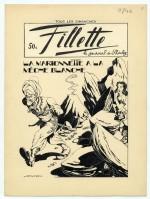 Dessin original de Calov pour une couverture de Fillette.