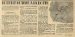 Un roman à suivre de René Thévenin dans les derniers numéros de Fillette, en mars 1942.