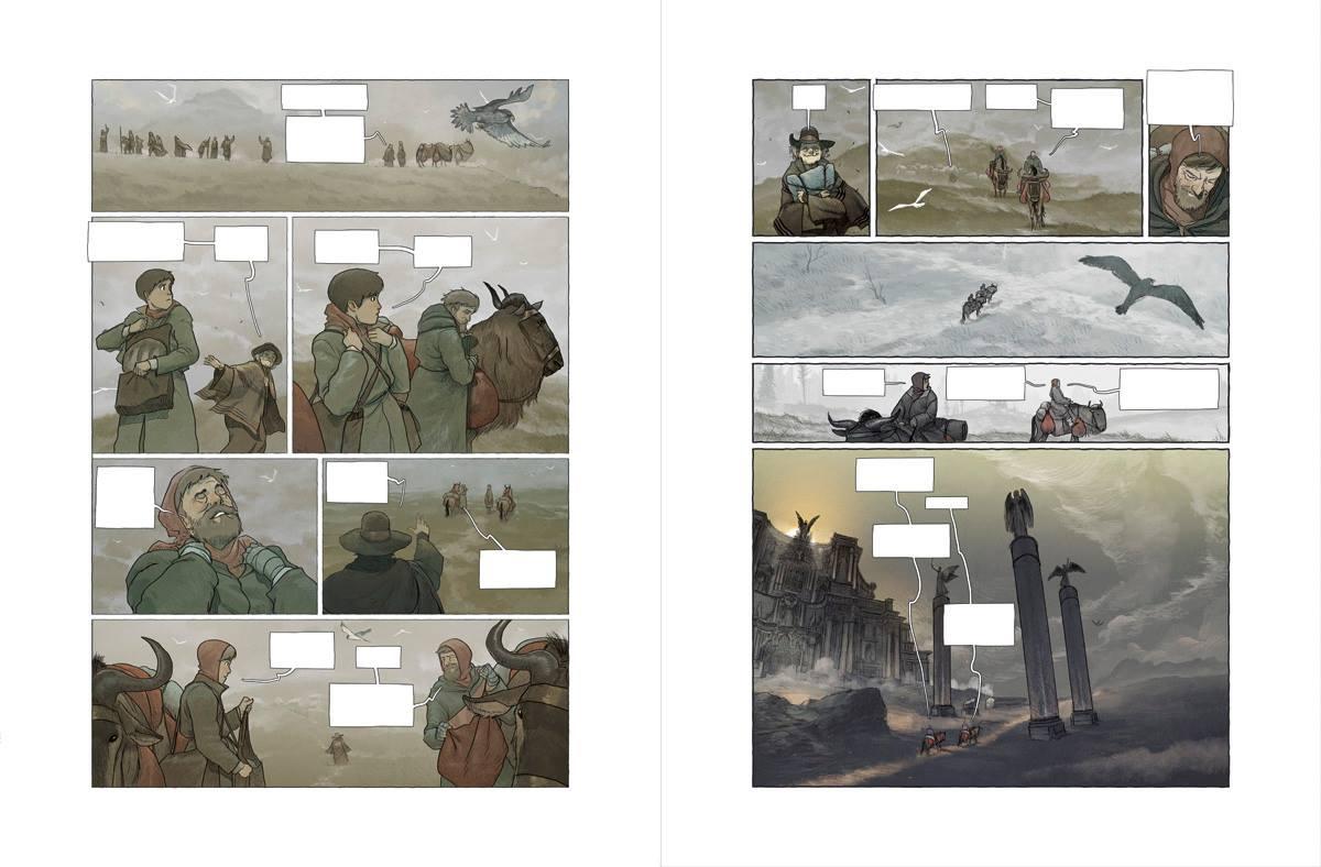 Couleurs et composition des pages 10 et 11