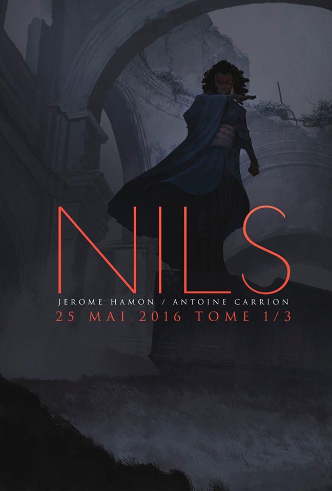 Affiche annonce pour la parution de Nils