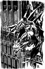 "Les références : ""Batman stands guard over a Gargoyle"" par JunBobKim"