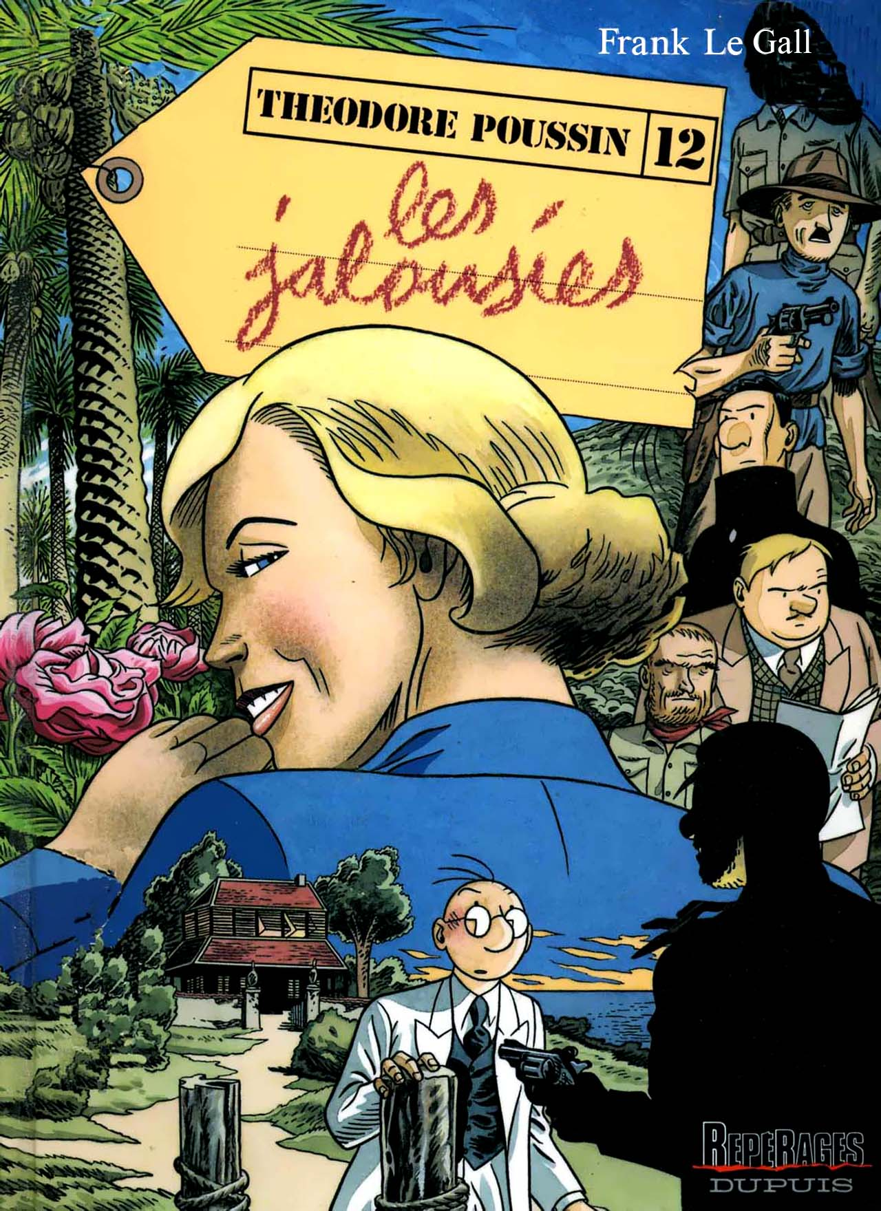 """Couverture et planches de fin pour """"Les Jalousies"""" (Dupuis, 2005)"""