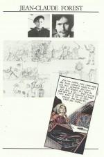 La page sur Forest dans « Graine de pro » : portfolio édité par la Caisse d'épargne, en 1985.