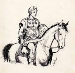 Alexandre le Grand « Hermès Azara » dessiné par Jo-El Azara en 1960, dans le quotidien belge La Croix.