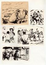 Illustrations pour le roman « Les Hommes de Benton's Farm ».