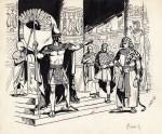 Illustration réaliste pour « La Bible », dans le quotidien belge La Croix.