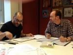 Session de travail avec Antonio Lapone