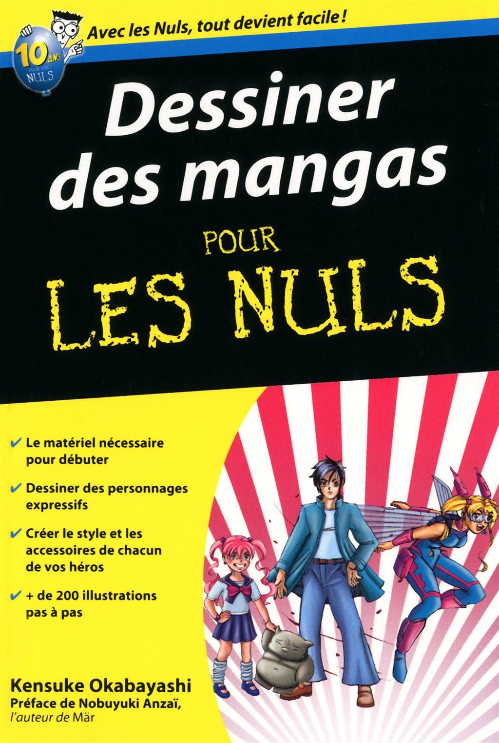 Dessiner des mangas pour les nuls (Kensuke Okabayashi ; First éd., sept. 2007)