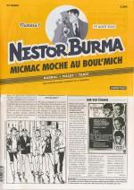 Présentation du n°1 de Micmac moche au Boul'Mich (N. Barral) : journal de  42 x 29 cm. Avec une demi-jaquette agrafée qui recouvre le périodique plié en deux.
