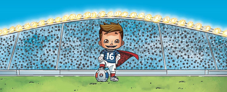 Super Victor la mascotte de l'Euro 2016