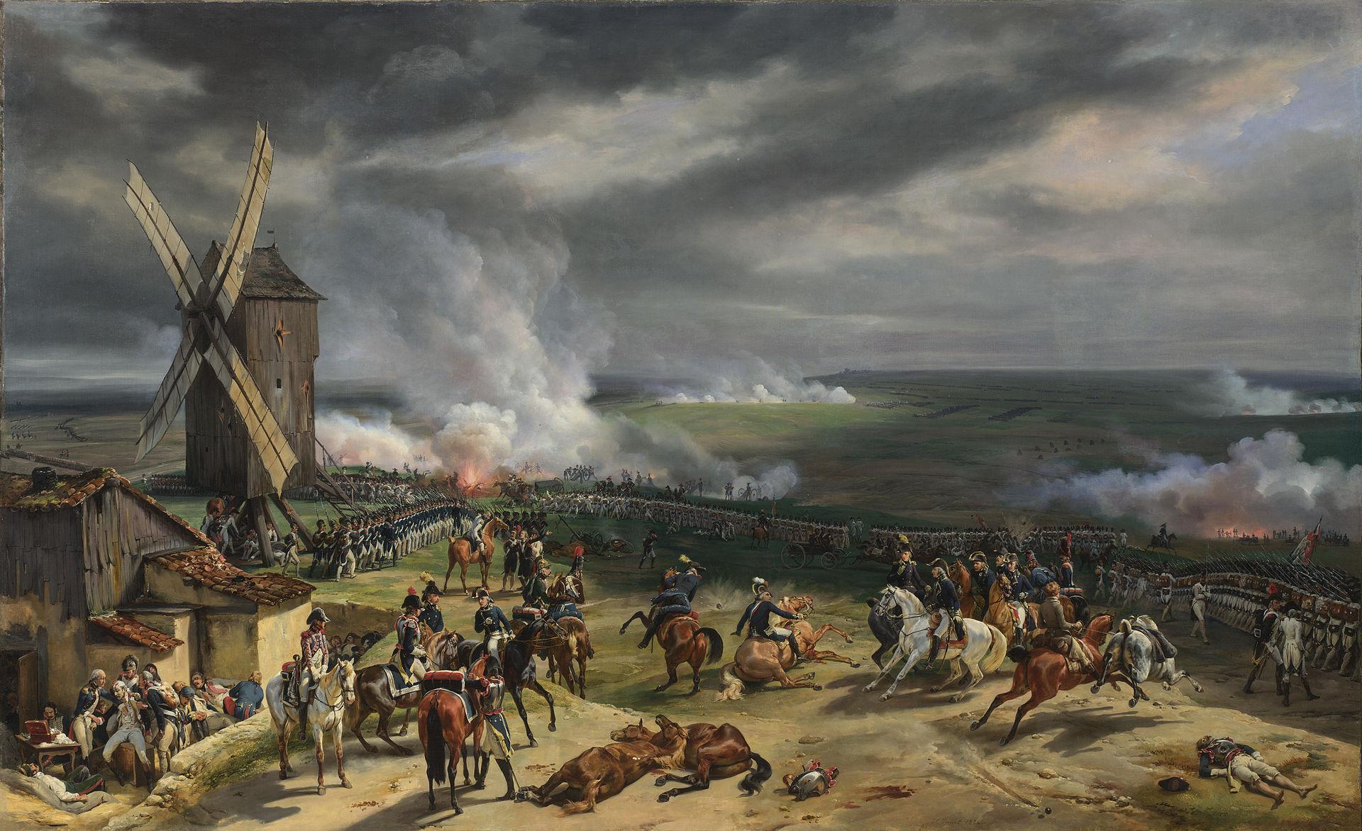 La Bataille de Valmy, le 20 septembre 1792 (Peinture d'Horace Vernet, 1826).