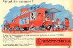 Un exemple des publicité pour le chocolat Victoria réalisés par Publiart.