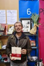 "Fabcaro, auteur de "" Zaï ZaÏ ZaÏ Zaï "", lors du Festival d'Angoulême, en janvier 2016. Photo : Gwenaël Jacquet"