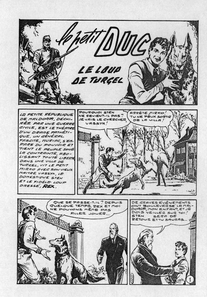 Première apparition du « Petit Duc » dans le n° 1 de Kiwi.