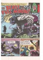 « The Beast of the Full Moon » : la première histoire de Jack Davis pour E.C. dans The Vault of Horror n°17.