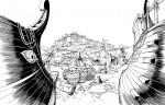 Encrage pour la case 1 de la planche 28 de L'Iliade par P. Taranzano