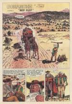 L'apparition de Red Dust : deux premières planches (Tintin n°50 du 16 décembre 1969)