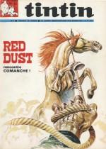 Première couverture composée par Hermann pour la série Comanche (Tintin n°15 du 14 avril 1970), publiée depuis quelques semaines.