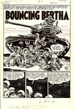 La page 1 de Frontline Combat n° 2 (septembre 1951), dessinée par Davis.
