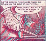 Une case de l'histoire en relief « The Thing From the Grave » de Joe Orlando, publiée dans le n° 2.
