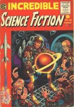 Incredible Science Fiction n° 30, avec une couverture de Davis.