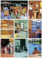 Planche avec Ray Bana publiée dans l'album collectif « Les Magiciens d'eau », édité en 1987 par Bandes originales.