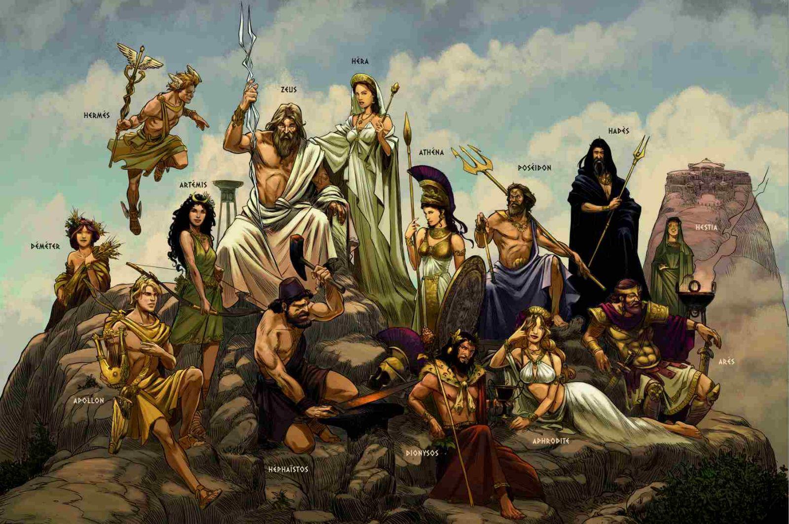 La mythologie grecque en bd - Dessin mythologie ...