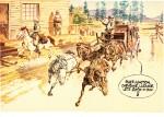 """Poster paru dansTintin n°35 le 28 août 1973, à l'occasion de la prépublication de """"Le Ciel est rouge sur Laramie"""""""