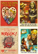 Cartes « Wacky Plaks », « You'll Die Laughing » et « Funny Valentines ».