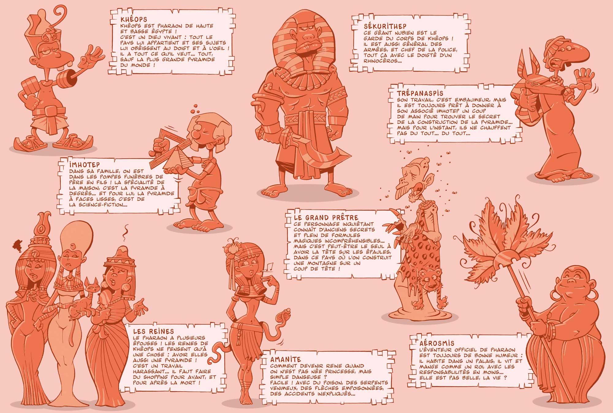 Khéops T 1 personnages
