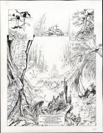 Un Okapi en noir et blanc : planches 1 (n.et bl. et coul.) et 2 (Dupuis 2016)