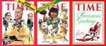 Trois couvertures de Time par Davis.