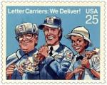 Le timbre dessiné par Jack Davis pour les postes américaines.