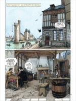 La reconstitution de Paris au XVIIe siècle : planches 5 et 9 (Dargaud 2016)