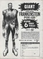 Poster publicitaire du monstre de Frankenstein (Famous Monsters of Filmland n° 18).