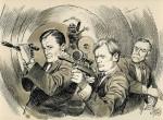 Une illustration intérieure de TV Guide pour « Des agents très spéciaux » (« The Man from U.N.C.L.E. »).