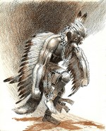 """Une illustration intérieure de """"Meet The North American Indians"""" d'Elizabeth Payne."""