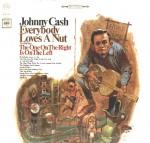 La pochette du disque de Johnny Cash : « Everybody Loves a Nut ».